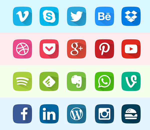 Flat – App Icon Set Free Download