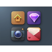 3D Icon Set Sketch Freebie