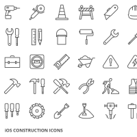 50 Construction Icons for iOS 8