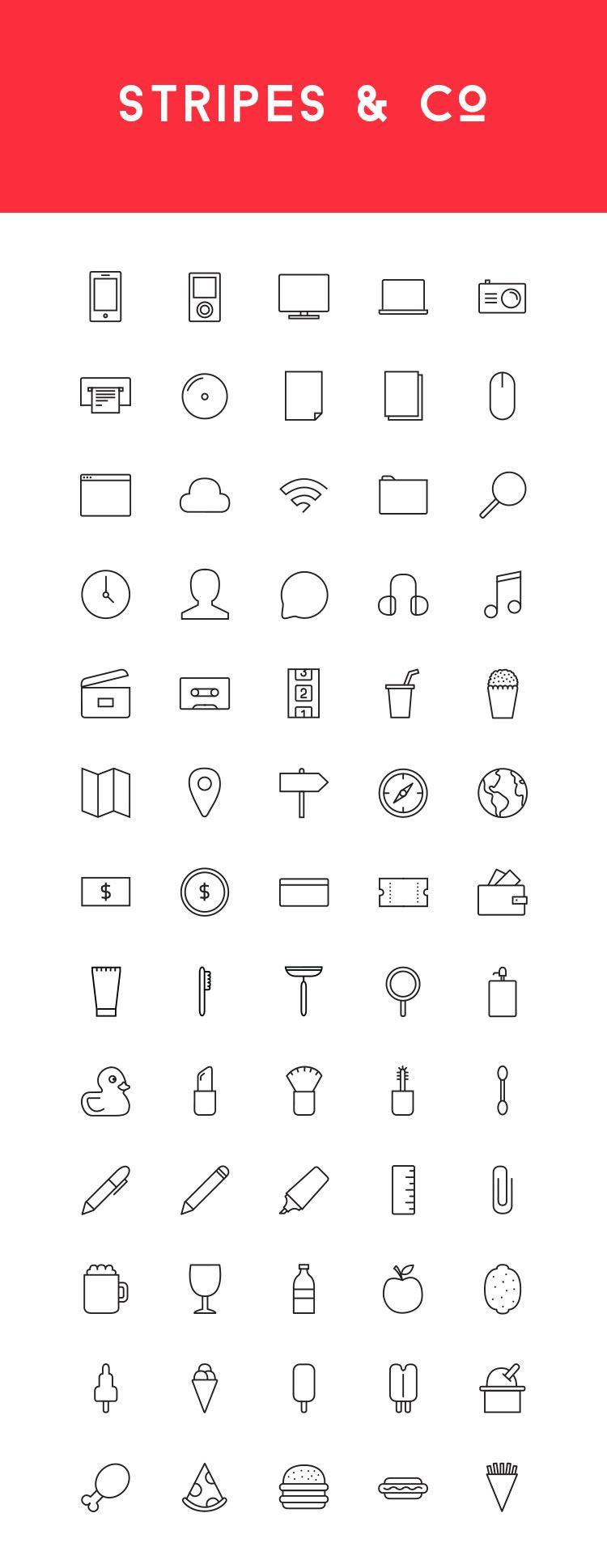 Stripes & Co Line Styled Icon Set