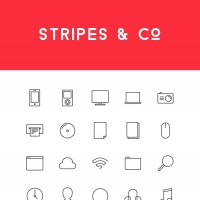 Stripes & Co Line Styled Icon Set