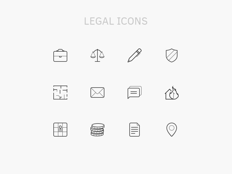 Legal Icon Set