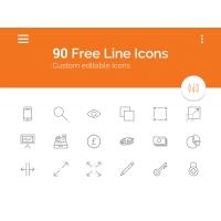 90 Line Icons