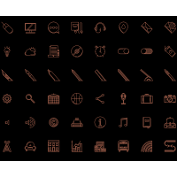 Free Download Line Icons Set