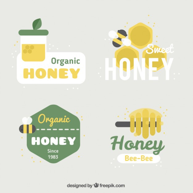 Honey Logos Set