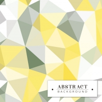 Polygonal Background In Grey And Yellow Colors