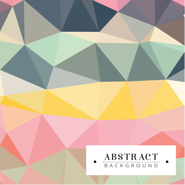 Polygonal Background In Soft Tones