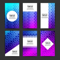 Modern Business Flyers Set With dDots