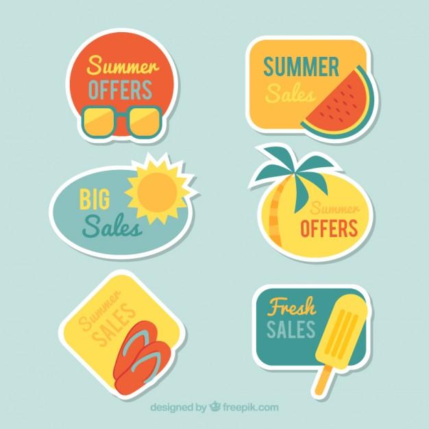 Pack Of Summer Sale Badges