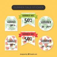 Summer Sale Stickers Set