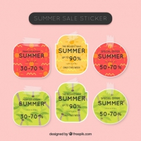 Cute Summer Sale Labels With Adhesive Tape