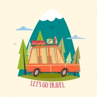 Coloured Travel Design