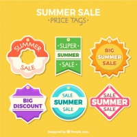 Beautiful Summer Sales Tags