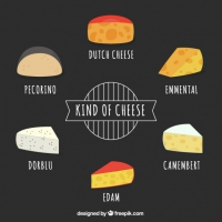 Collection Of Hand Drawn Cheese