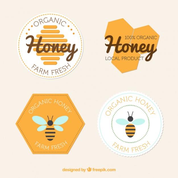 Flat Badges Of Honey