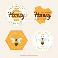 Flat Badges Of Honey