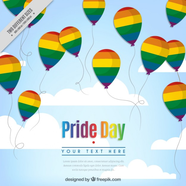 Pride Background With Colorful Balloons