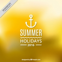 Unfocused Yellow Summer Background With An Anchor