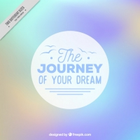 Blurred Abstract Background With A Travel Phrase