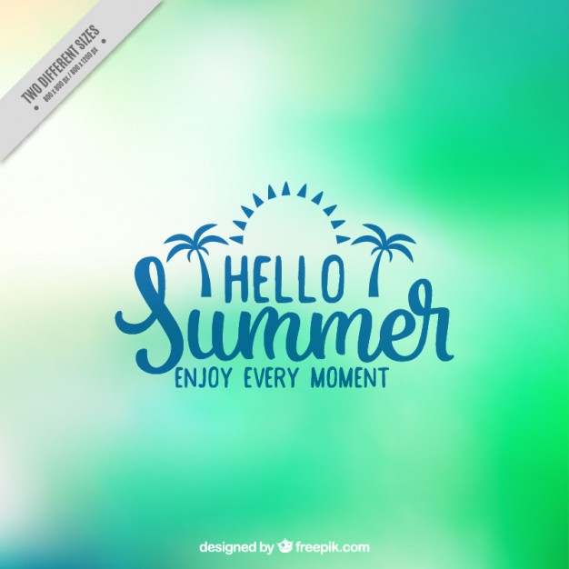 Green Abstract Blurred Summer Background
