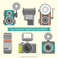 Selection Of Vintage Flat Cameras