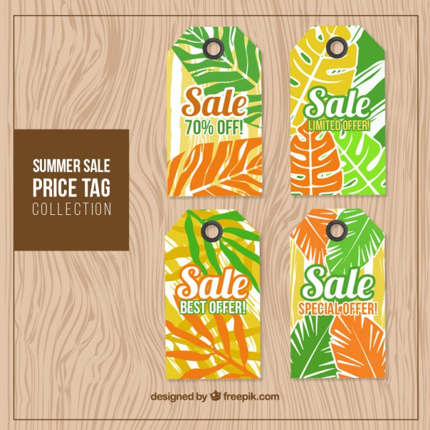 Set Of Summer Sale Tags With