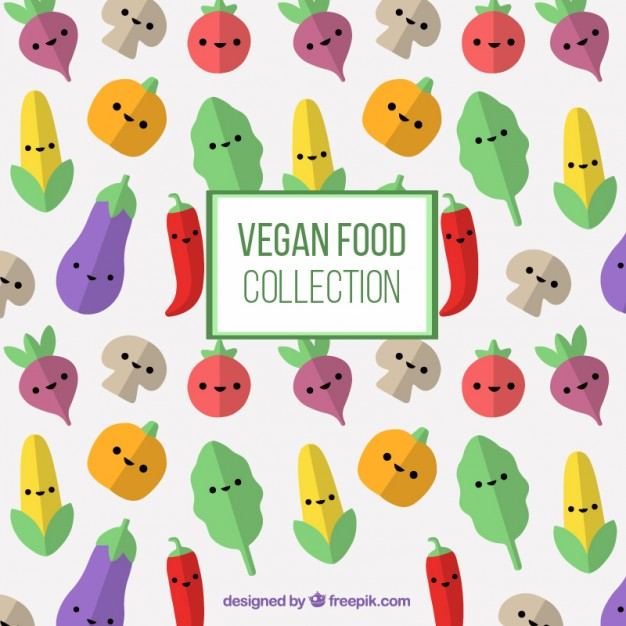 Nice Vegetables Characters Background