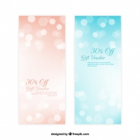 Bokeh Sales Abstract Banners