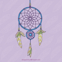 Hand Drawn Decorative Dream Catcher
