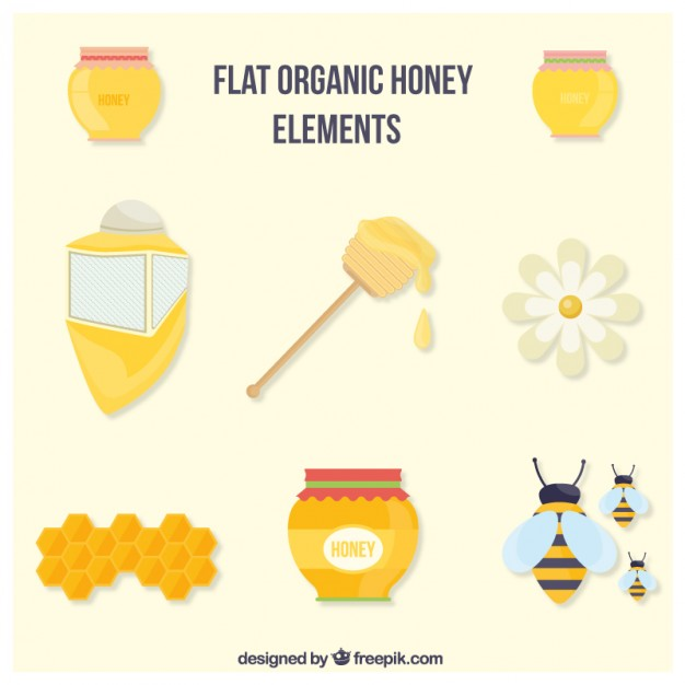 Flat Organic Honey Accessories Set