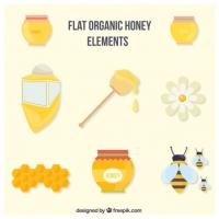 Flat Organic Honey Accessories Set