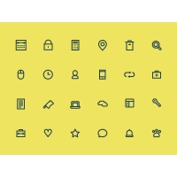 Free 24 Bold Line Icon