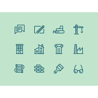 Building Icons Sketch Freebie
