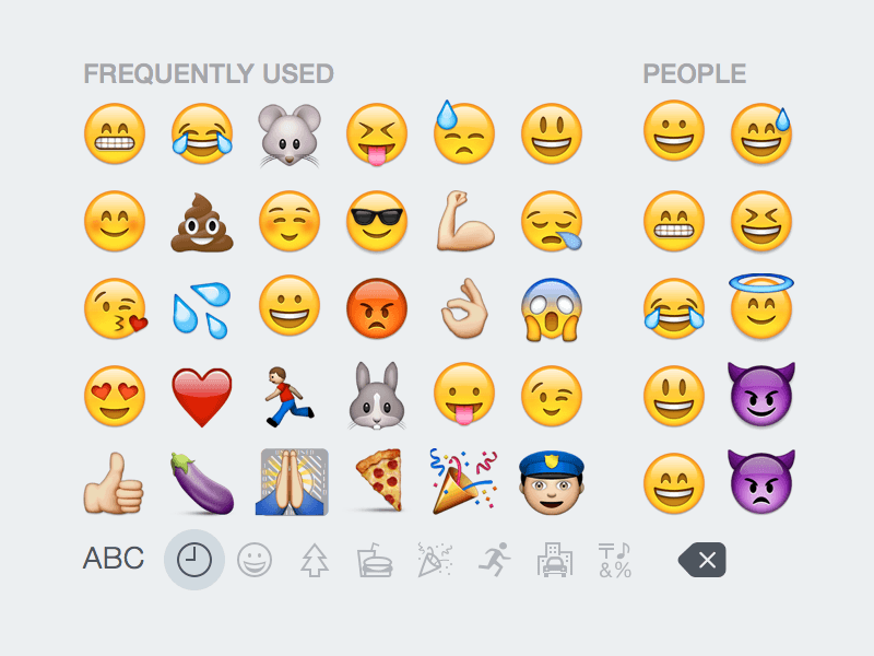 iOS 8 Emoji Keyboard
