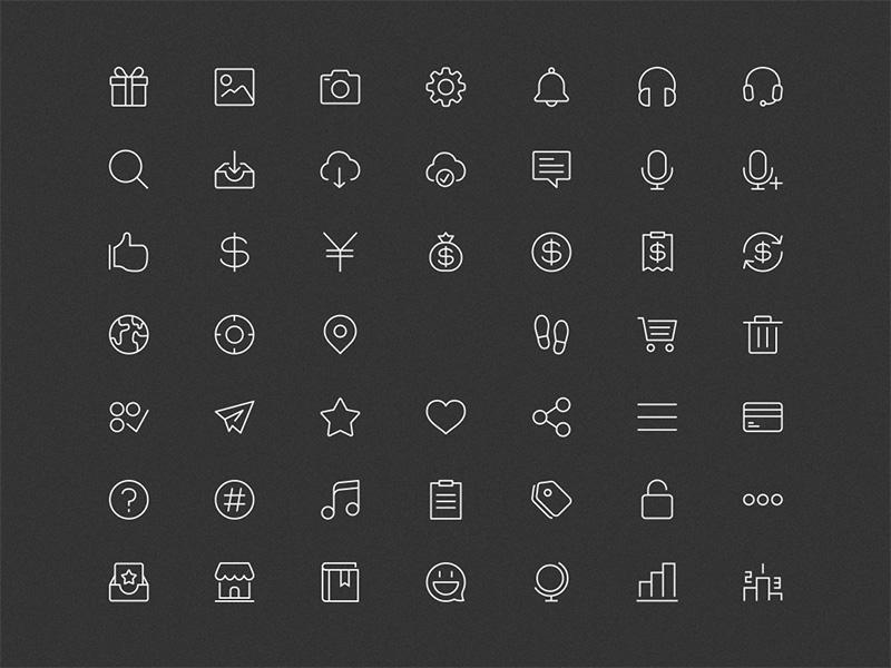 48 Line Icons