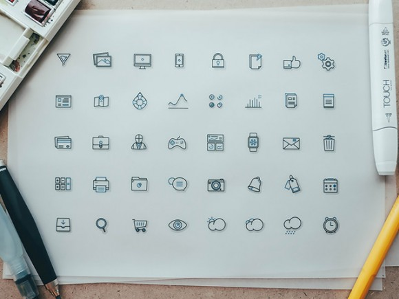 Fblu – 40 Free Icons