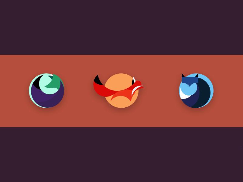 3 Fox Icons