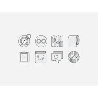 Monochromatic Flat UI Icons