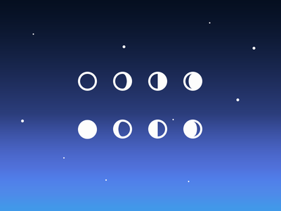 Simple Moon Phase Icons