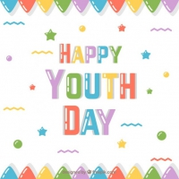 Cute Colored Happy Youth Day Dackground
