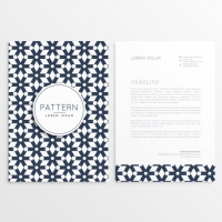 Business Letterhead Template In Tile Style