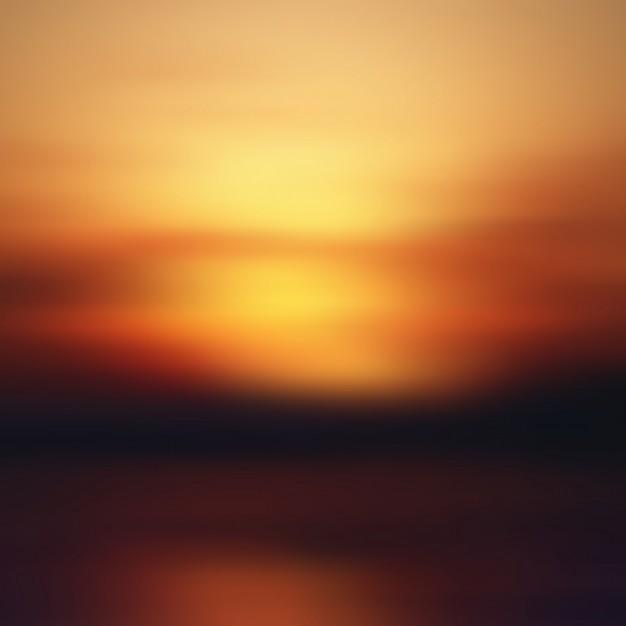 Beautiful Sunset Blur Background