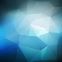 Abstract Low Poly Background In Blue Color