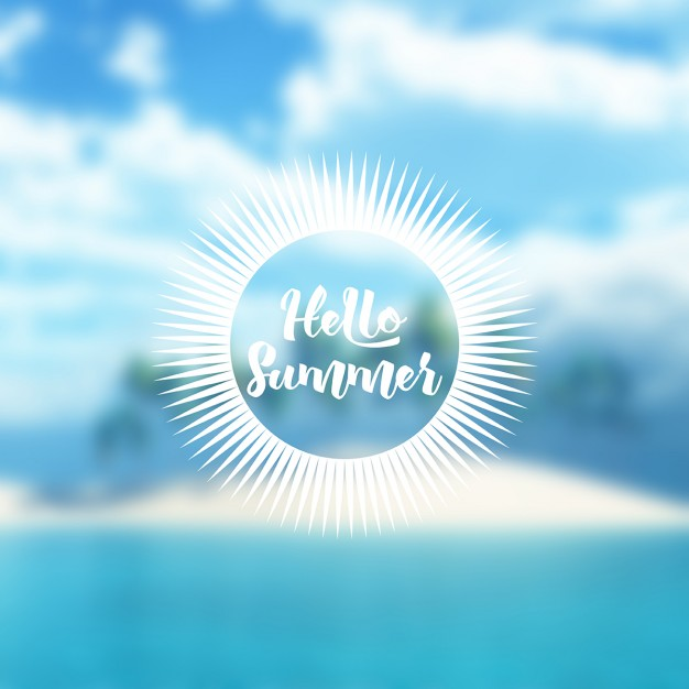 Defocussed Tropical Summer Background