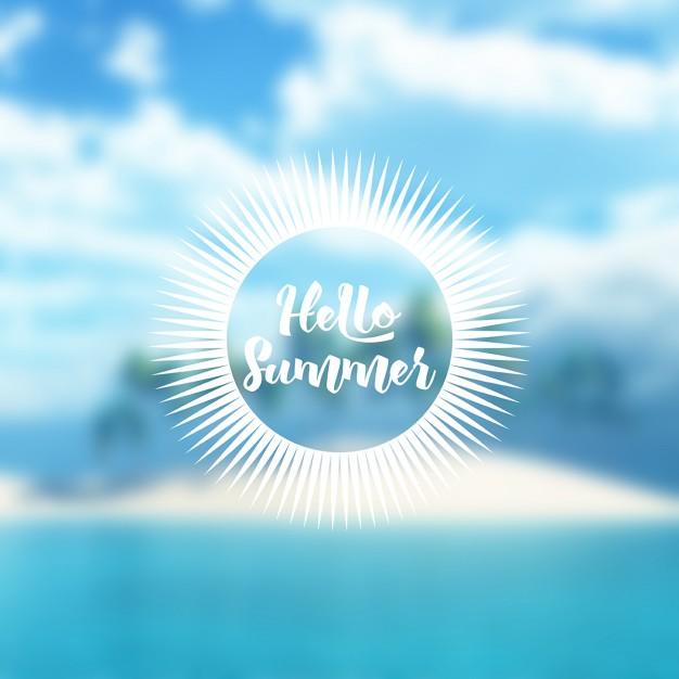 Defocussed Tropical Summer Background