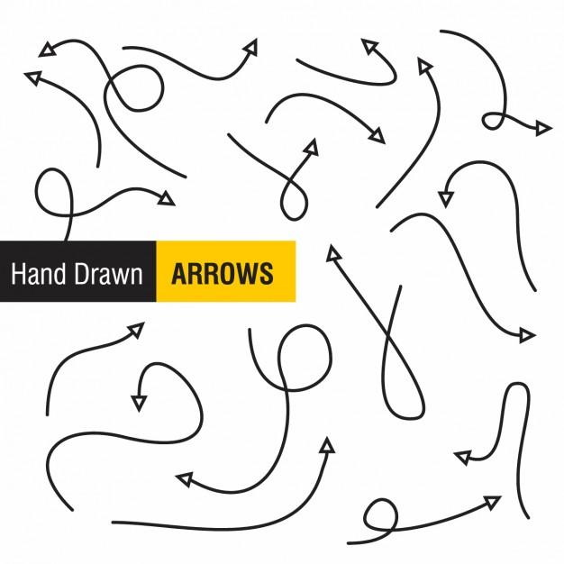 Hand Drawn Arrows Design