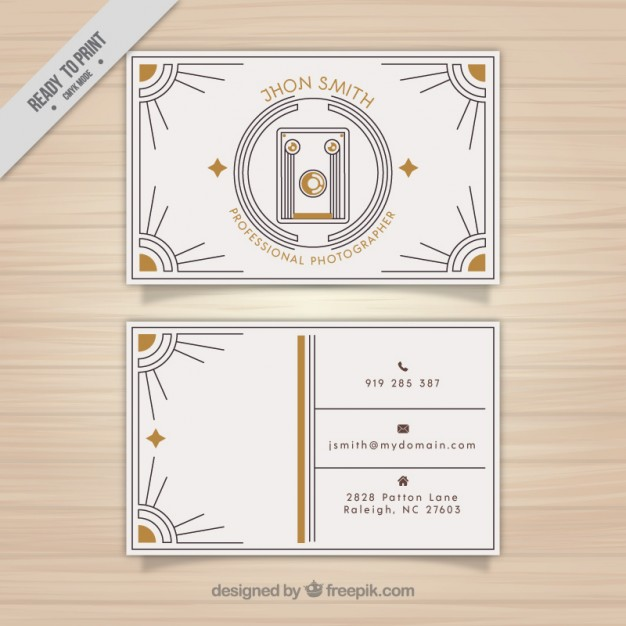 Retro Photography Business Card
