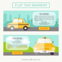 Cute Taxi Banners