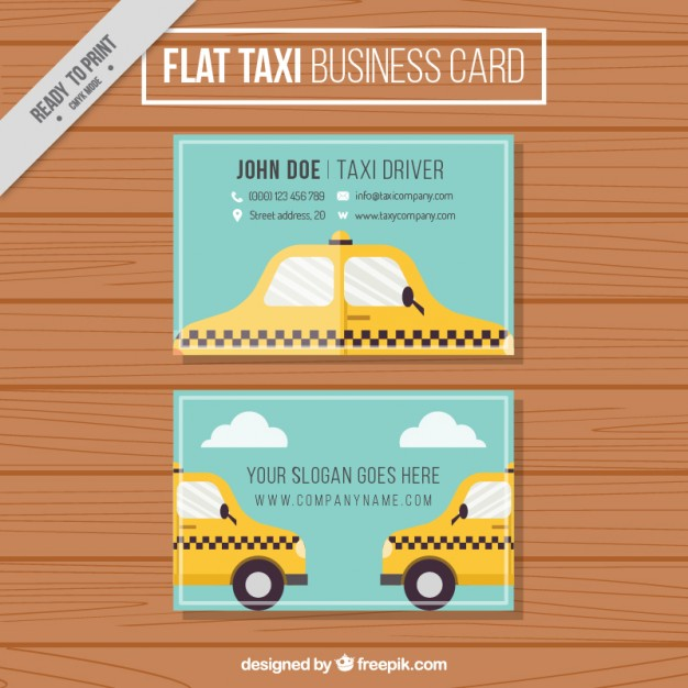 Cute Taxi Business Card