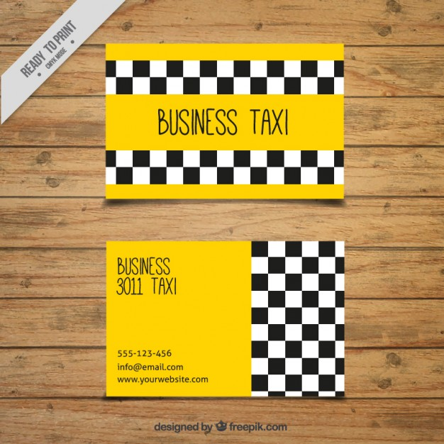 Business Taxi Card